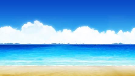 [background] Anime-styled beach type 14 by akiranyo