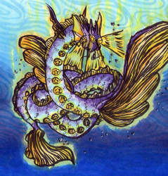 Star Lighted Sea Snake Dragon by Sleepy17