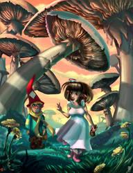 Short Meeting Under the Mushrooms by JBergen1910