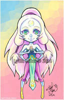 Lilly-Lamb Chibi Series- Opal_ Steven Universe by Lilly-Lamb