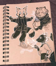 Lilly-Lamb Sketchbook 2018 Part 14 by Lilly-Lamb