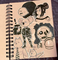 Lilly-Lamb Sketchbook 2018 Part 15 by Lilly-Lamb