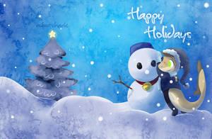 Happy Holidays by Robo-Shark