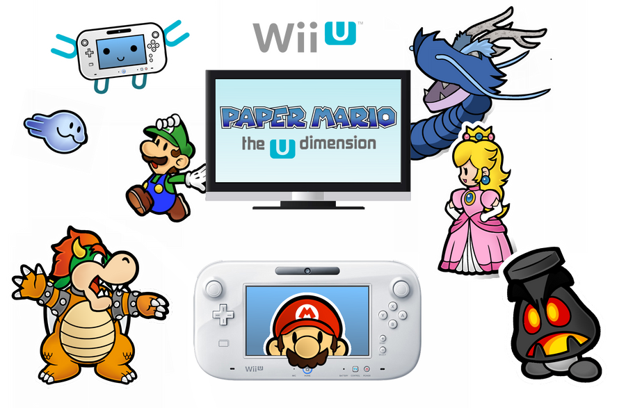 Paper Mario : The U Dimension - C O N C E P T by MonoKhromatik