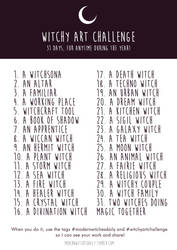 Witchy Art Challenge - Inktober 2016! by Vicky-Pandora