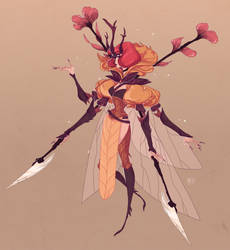 CHARACTER DESIGN CHALLENGE - INSECT WARRIOR by Vicky-Pandora