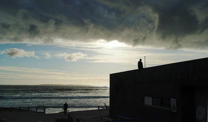 Surfers at Big Bay by AfricanObserver