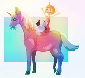 Child's Unicorn by CharcoalCharcaz
