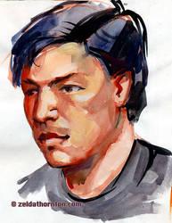 Watercolor sketch from life by zeldat