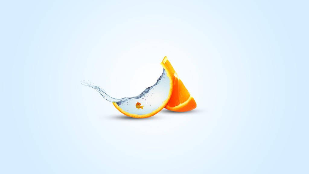 Fish in an orange by imaginaryuser