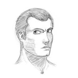 Male proportion study sketch by ShieldCrush