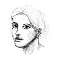 Face proportions study 4 sketch by ShieldCrush