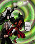 Battle to the finish by Niqua10023