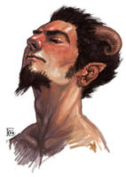 Satyr Study by feliciacano