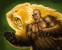 Bear Transformation by feliciacano