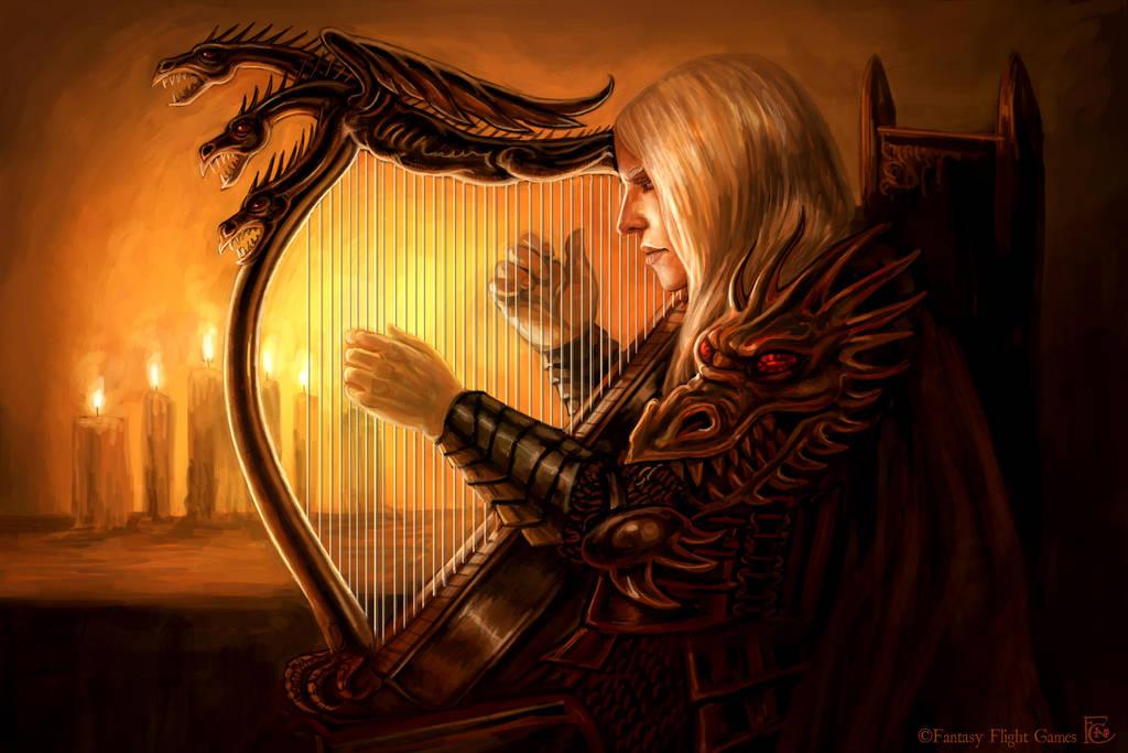 Rhaegar's Harp by feliciacano