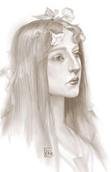 Study of Lefebvre's Ophelia by feliciacano