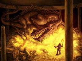 Bronze Dragon by feliciacano