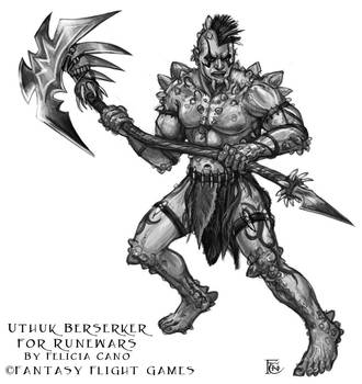 Uthuk Berserker for RuneWars by feliciacano