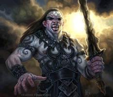 Wrathborn Warrior for Talisman by feliciacano
