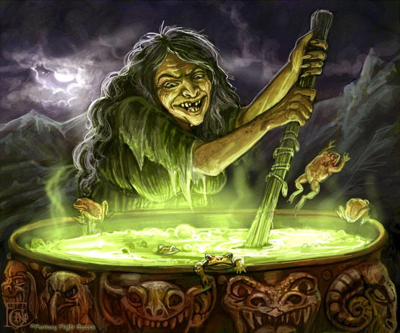 Cauldron Crone for Talisman by feliciacano