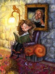 Hermione Reading by feliciacano