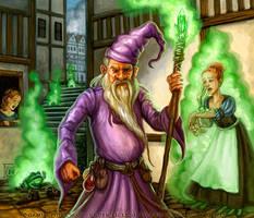Grumpy Wizard for Talisman The City by feliciacano