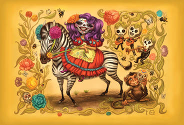 Day of the Dead Postcard by feliciacano