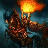 Ifrit Sheikh for Talisman The Firelands by feliciacano