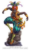 Jin Blooded for Talisman the Firelands by feliciacano