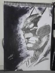 Batman sketch  by ArtSketcher5