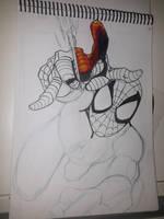 spider man sketch  by ArtSketcher5
