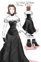 Winter Soldier Dress Idea by tamara-robitille