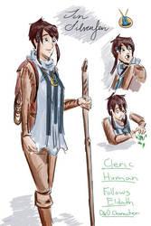 Jen Silverfen, Human, Cleric, by tamara-robitille