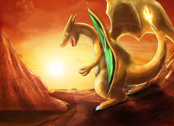 Sunset Roar by Deruuyo