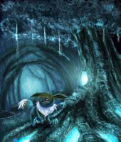 Eevee: Midnight Forest by Deruuyo