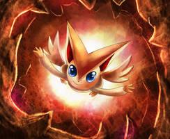 Victini: Flame Burst by Deruuyo