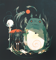 Totoro Terror by NanoMortis