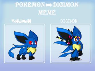 Pokemon Digimon Meme - Auraeon by RiuAuraeon