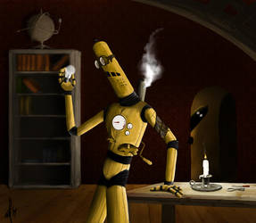 Steampunk Bot by kaimiirah