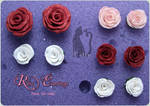 Polymer Clay Rose Earrings by Talty