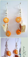 Orange Cake Earrings by Talty