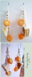 Orange Cake Earrings by Talty