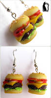 Polymer Clay Hamburger Earrings by Talty
