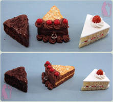 Chocolate German and Strawberry Cakes by Talty