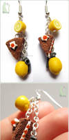 The Cake is a Lie and Lemon Grenade Earrings by Talty