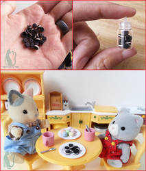 Polymer clay Oreo cookies tutorial by Talty