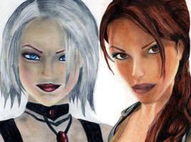 Lara vs Amanda by axond