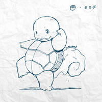Reimagining: #007 - Squirtle by tsunami-dono