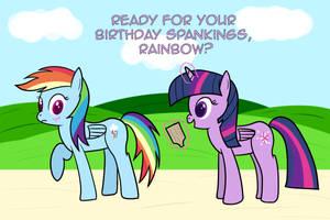 Happy Birthday, Rainbow Dash by joeyh3